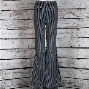 NEW N.E.5 Striped HiWaist Flare Jeans sz 28